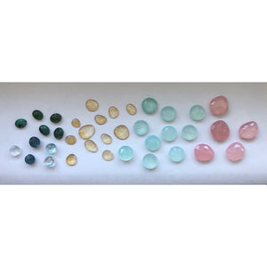 carla merino studio jewelry handcrafted in miami handcut gem stones rose quartz chalcedony citrine aquamarine emeralds