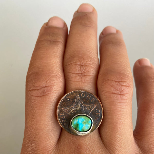 Sea Star Coin Ring