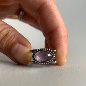 Pink Sapphire Doublet Square Ring