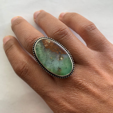 Australian Chrysoprase Oval Ring