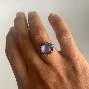 Pink Amethyst Triplet Square Ring