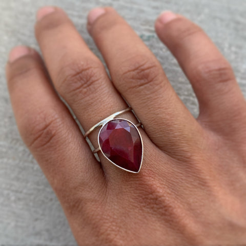 Red Corundum Ring