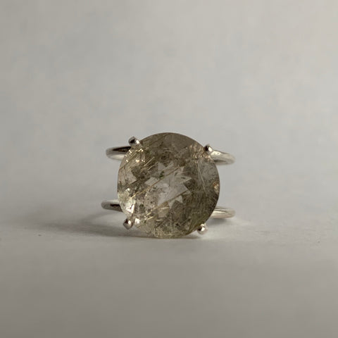 Prong Set Rutilated Quartz