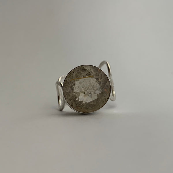Round Rutilated Quartz Ring
