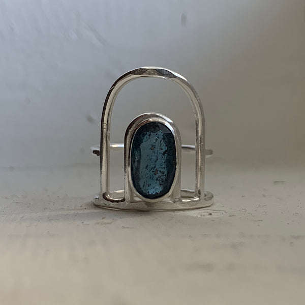 Teal Kyanite Ring #1