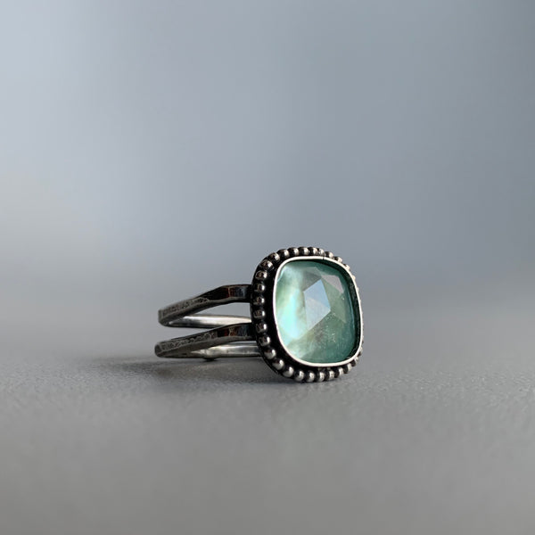 Mother of Pearl Doublet Square Ring