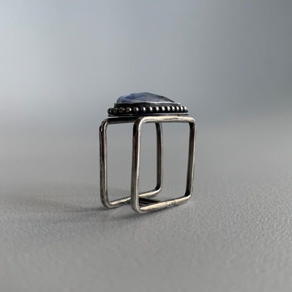 Sapphire Doublet Square Ring
