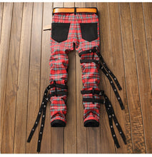 Load image into Gallery viewer, Scottish Red Plaid Goth Boi Denim - kantaloupe clothing