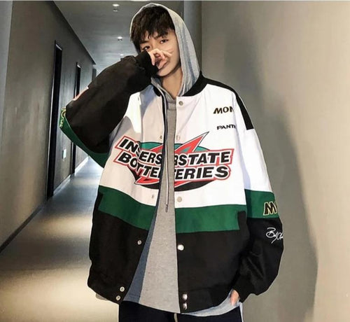 INTERSTATE BATTERIES Bomber Jacket - kantaloupe clothing