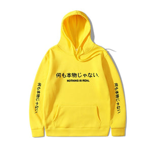 NOTHING IS REAL Pullover Hoodie - kantaloupe clothing
