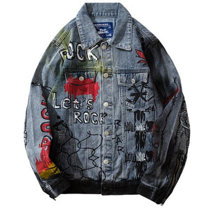 Bloodshot Eyes Denim Jacket - kantaloupe clothing