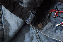 Load image into Gallery viewer, Bloodshot Eyes Denim Jacket - kantaloupe clothing