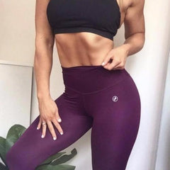ABS2B - High Waist Leggings Marilyn (Eggplant)