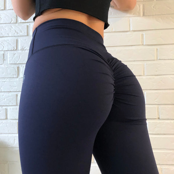 ABS2B - High Waist Leggings Marilyn (Navy Blå)