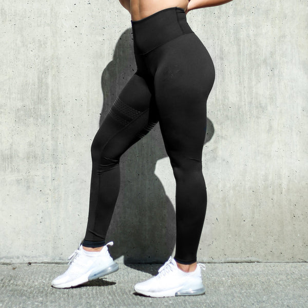 BARA - High Waist Shape Leggings (Svart)