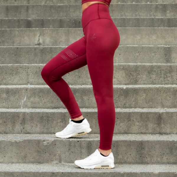 BARA - High Waist Shape Leggings (Bordeaux)