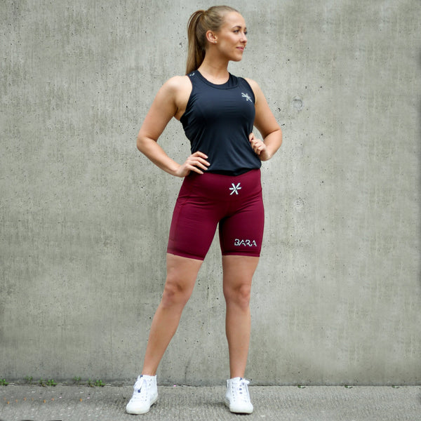 BARA - High Waist Proud Shorts (Bordeaux)
