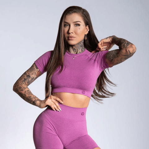 Gym Glamour - Amy Seamless Crop Top (Pink)