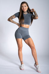Gym Glamour - Amy Seamless Shorts (Grå)