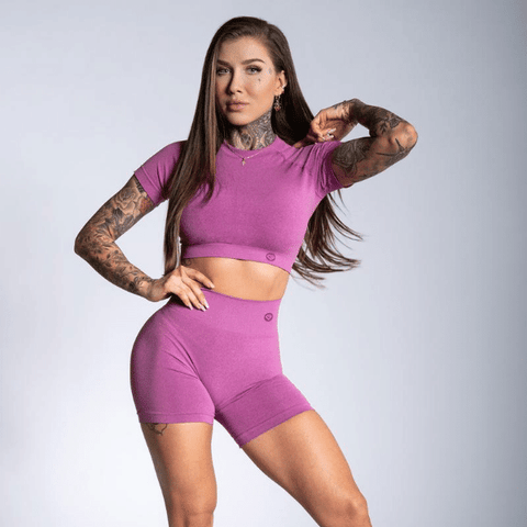 Gym Glamour - Amy Seamless Shorts (Pink)