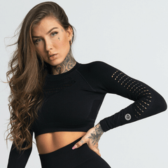 Gym Glamour - Criss Seamless Crop Top (Svart)