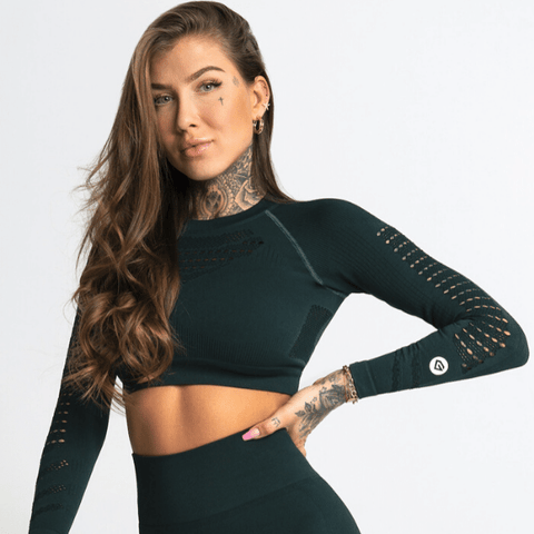 Gym Glamour - Criss Seamless Crop Top (Grön)