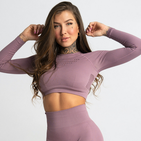 Gym Glamour - Criss Seamless Crop Top (Lilla)