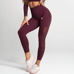 Gym Glamour - Criss Seamless Leggings (Bordeaux)