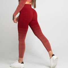 Gym Glamour - Ombre Leggings (Burgundy)