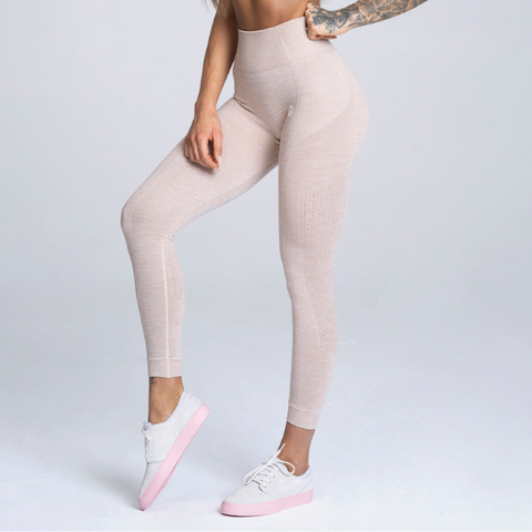 Gym Glamour - Alva Seamless Leggings (Beige)