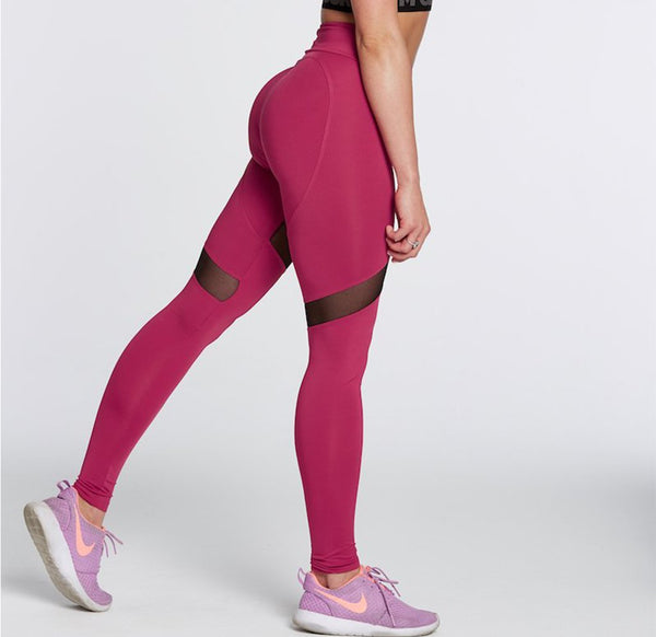 Gym Glamour - High Waist Heart Leggings (Koral)