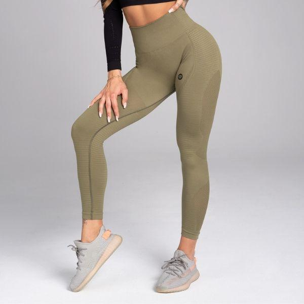Gym Glamour - Tica Seamless Leggings (Khaki)