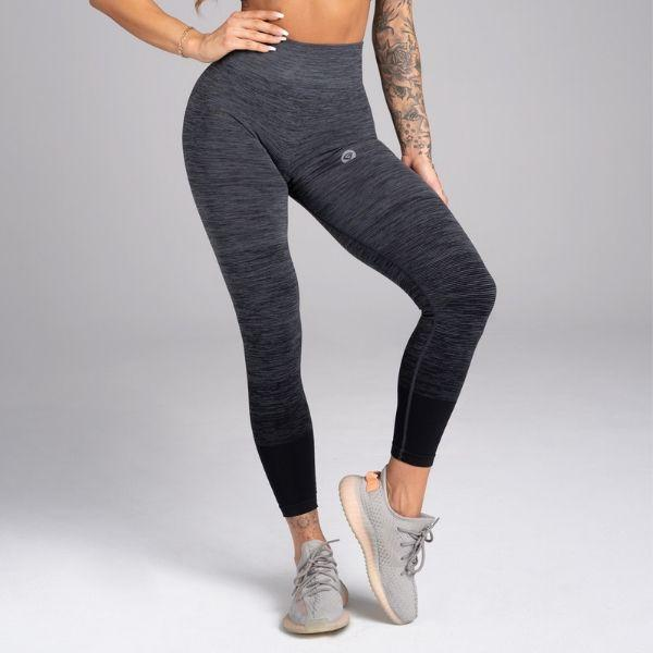 Gym Glamour - Eve Seamless Leggings (Svart/Grå)
