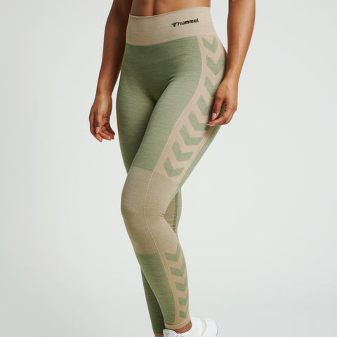 Hummel® - Clea Seamless Leggings (Khaki)
