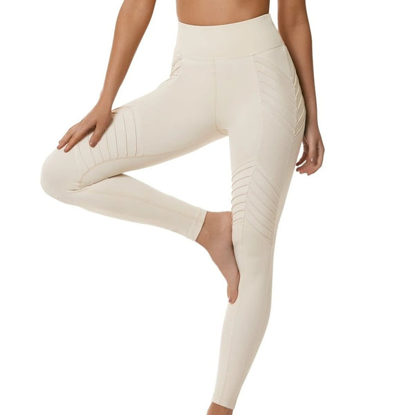 L'urv - New Beginnings Moto Leggings (Creme)
