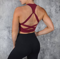 RapidWear - Runway Sports Bra (Burgundy)