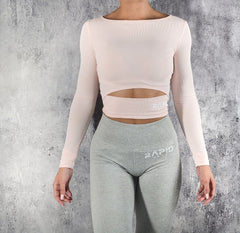 RapidWear - Long Sleeve Crop (Rosa)