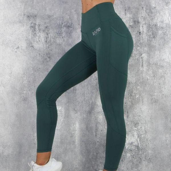 RapidWear - Sculpt Core Leggings (Grön)