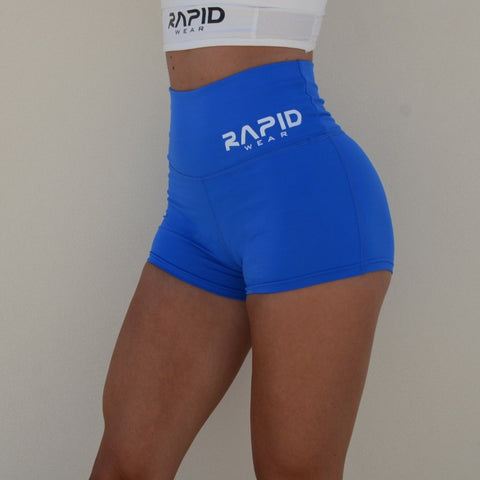 RapidWear - Ultra High Waist Shorts (Blå)