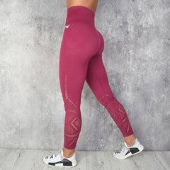 Rapid wear - Jacquard Seamless Leggings (Bordeaux)