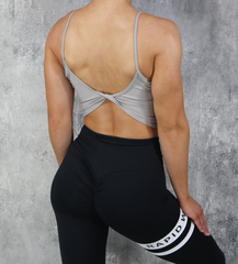 RapidWear - Open Back Crop Top (Grå)