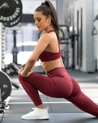 Ryderwear - 7/8 Flex Leggings (Bordeaux)