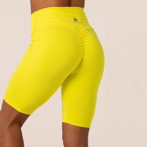 Ryderwear - Scrunch Bike Shorts (Neon Gul)