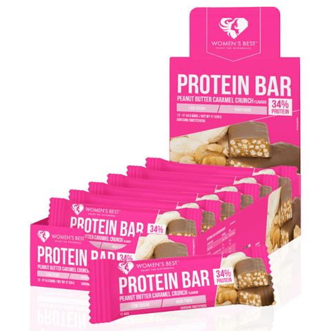 Women's Best - Protein Bar Peanut Butter Caramel Crunch (12 x 44g)