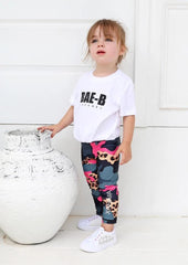 Xahara - Junior Camo Leggings (Grå/Pink)