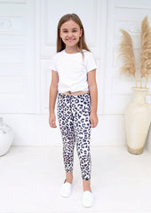 Xahara - Junior Snow Leopard Leggings (Vit)