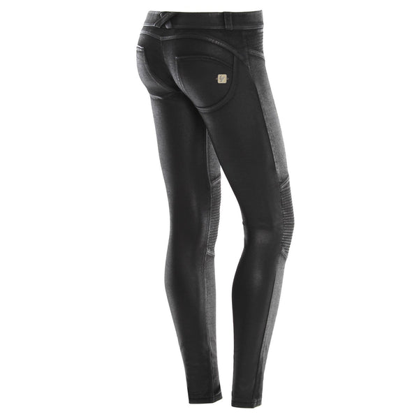 WR.UP® Low Waist Coated Biker Svart (N)