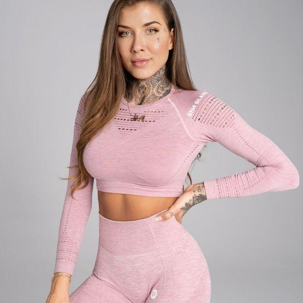 Gym Glamour - Alva  Seamless Crop Top (Ljusröd)
