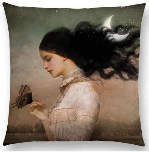 Cushion Cover - Butterfly Girl