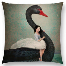 Load image into Gallery viewer, Cushion Cover - Swan Lake